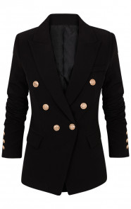 Button-Blazer-Zwart