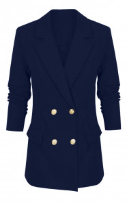 Button Blazer Marineblauw