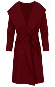 Wanted Coat Long Bordeaux