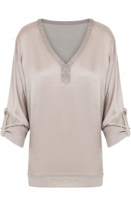 Zijde-Blouse-Taupe