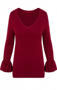 Flared-Top-Bordeaux