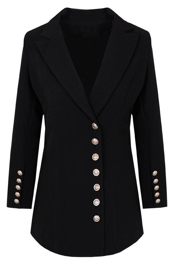 Blazer Button Zwart