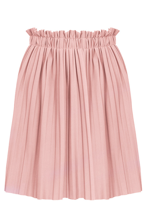 plisse rok pastel roze | themusthaves.nl