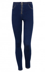 Skinny-Jeans-Rits-Donkerblauw