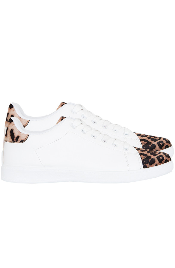 Sneakers-Leopard-Wit