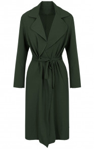 Trenchcoat-Dames-Legergroen