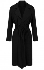 Trenchcoat-Dames-Zwart