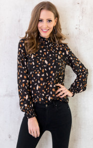 Luxury-Dot-Col-Blouse-Zwart