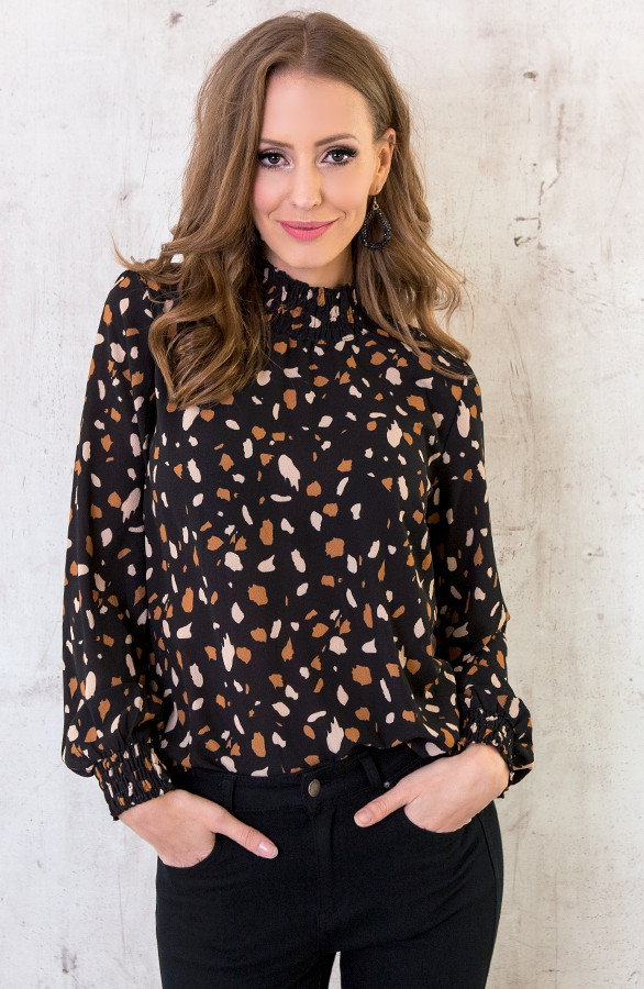 Luxury-Dot-Col-Blouse-Zwart-2