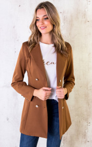 button-blazer-cognac