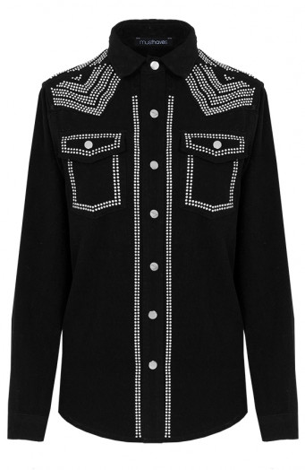 Limited-Studs-Blouse-Black