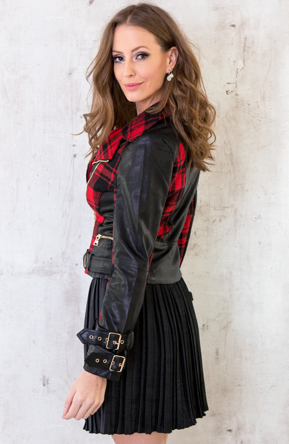 Biker-Jacket-Exclusive-Zwart-Rood-2