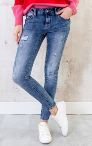Damaged-Jeans-Dames-Blauw-1