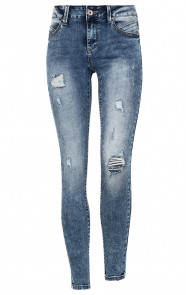 Damaged-Jeans-Dames-Blauw