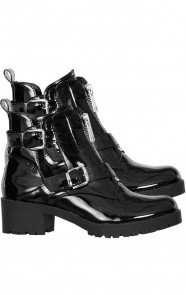 Lak-Cut-Out-Boots-Zwart-1