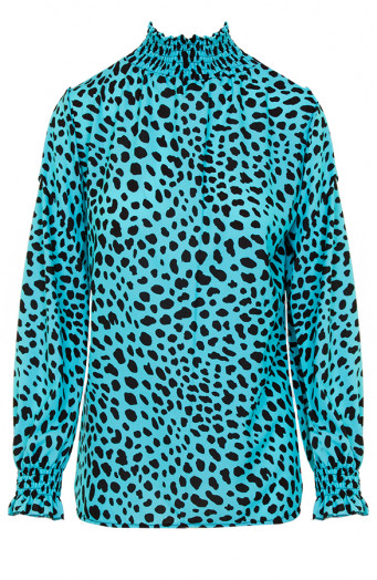 Cheetah-Col-Blouse-Turquoise