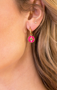 Luxury-Star-Oorbellen-Fuchsia-2