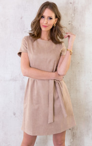 Suede-Jurk-Taupe-1