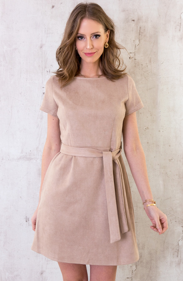 Suede-Jurk-Taupe-3