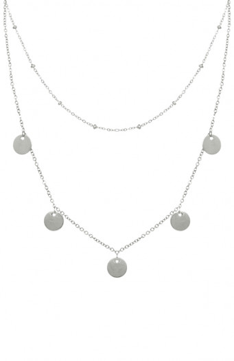 Coins Ketting Dames Zilver