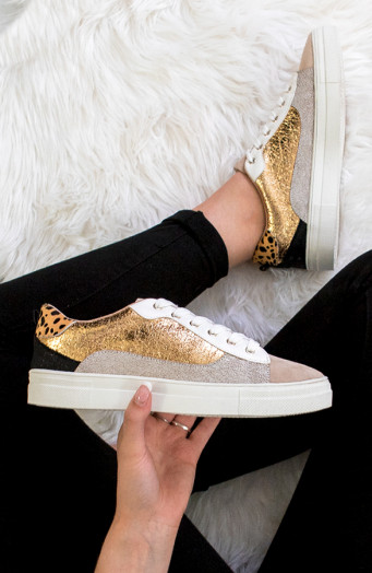 Sneakers-Leopard-Metallic-Gold