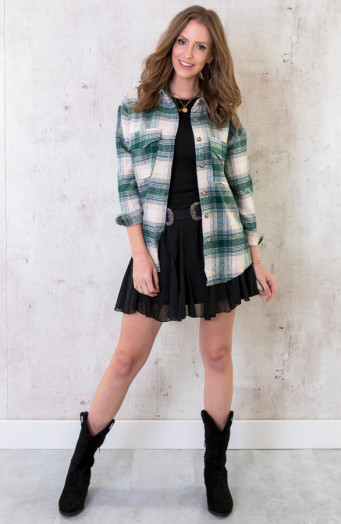 Checkered-Blouse-Soft-Smaragdgroen-1-1