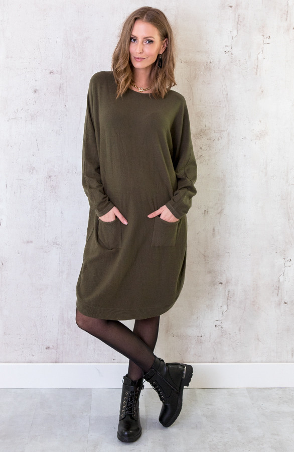Comfy Trui Lang Legergroen | Themusthaves.nl