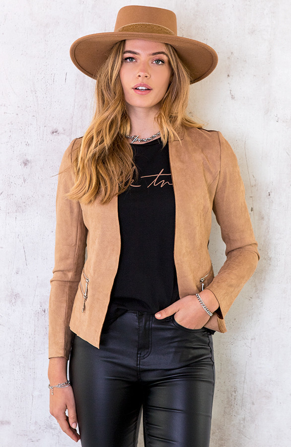 Suede-Blazer-Met-Rits-Taupe-5