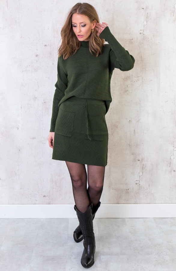 Twinset-Trui-Met-Col-Army-6
