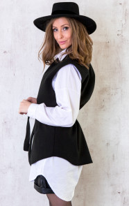 Fleece-Strik-Vest-Zwart-5