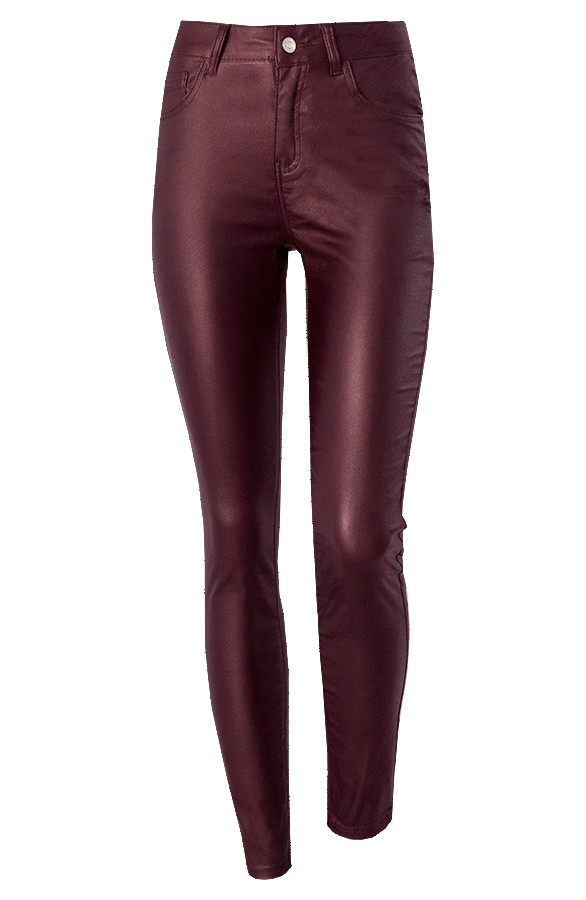 High-Waist-Coating-Jeans-Bordeaux