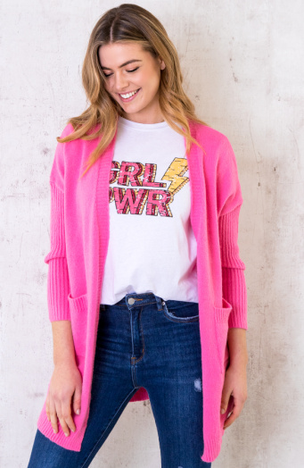 Girl Power Top Loose Fit Roze