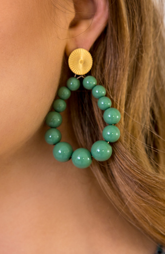 Luxury Beads Oorbellen Mint