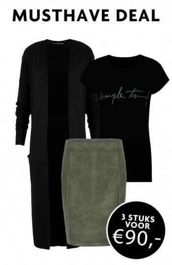 Musthave Deal Simple Jersey Groen