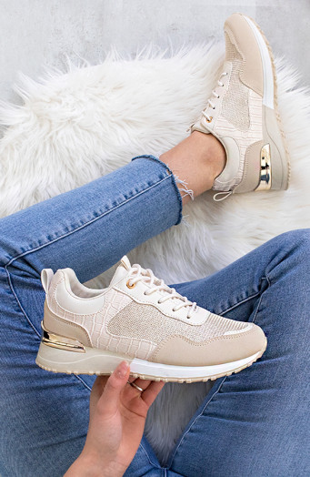 Sneakers-Croco-Favorite-Beige