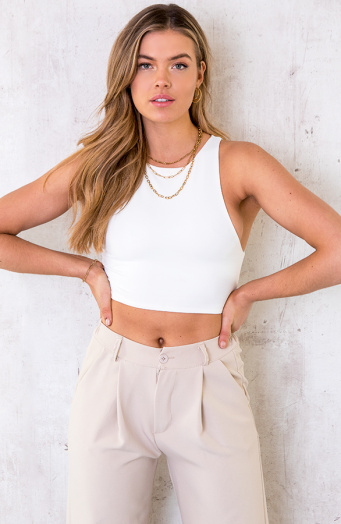Crop-Top-Dames-Ecru-2