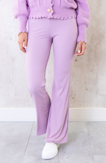 Flared Broek Extremely Stretch Lila