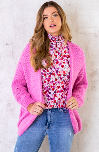 Oversized-Knitted-Vest-Candy-Pink-5