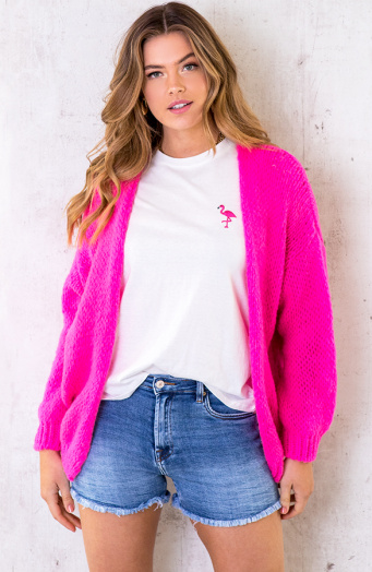 Oversized-Knitted-Vest-Neon-Pink-4