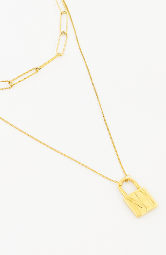 Laagjes Ketting Amour Goud