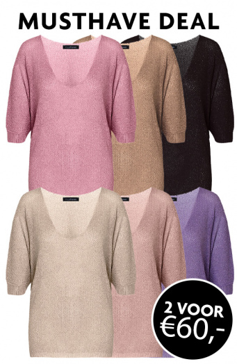 Musthave Deal Oversized Lurex Dames Tops