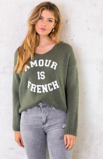 Amour-Is-French-Trui-Legergroen-6