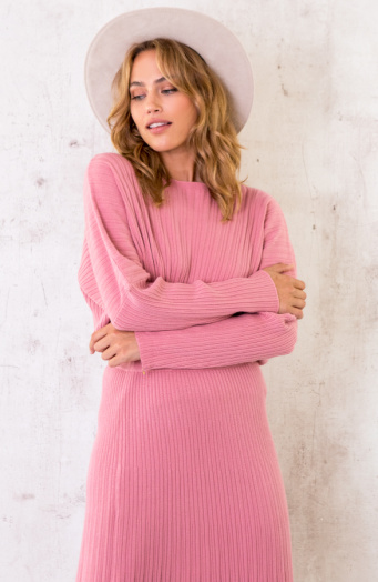 Yves Soft Sweater Oud Roze