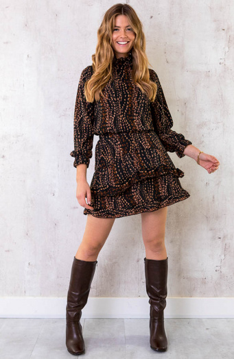 Musthave Deal Dots Print Set Choco
