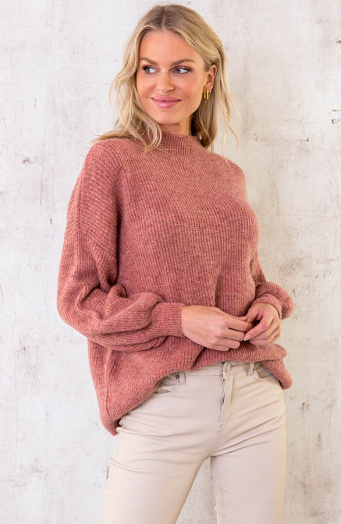 Essential-Knitted-Sweater-Oud-Roze-1