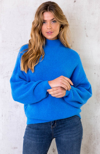 Knitted Sweater Blauw