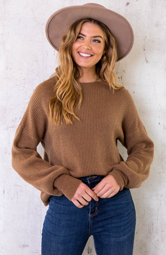 Soft-Knitted-Sweater-Camel-2